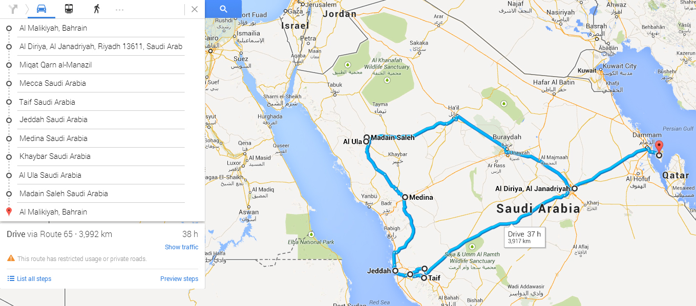 Madain Saleh Road Trip Itinerary