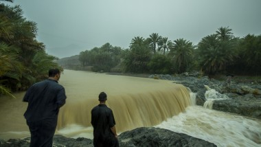 A rainy day in Wadi Al Hoqain